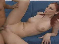 Stopping sucking dick busty redhead spreads hooves to be fucked missionary