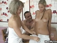 Dude joins his parents and GF foursome