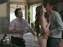 Sex-appeal chick Samantha Hayes is fucked apart from two hot blooded boyfriends