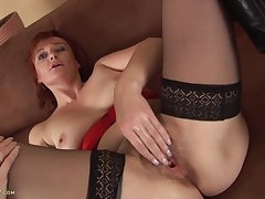 Granny Helga Still Craves A Big Hard Gumshoe - HD video
