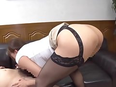 Big ass Japanese doll deals lover's dick like a pro