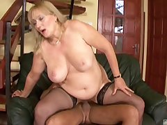 Chubby grown up Eva gets her wet pussy pounded like never before