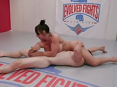 MMA porno exaggeration with muscular mature lady Brandi Mae