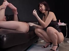 Pink Suspender Stockings Asian Mature Put to rights relating to Ass