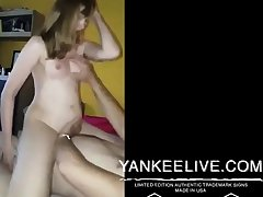 Girl rides husbands friend