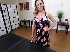 Legendary POV blear starring curvaceous milf on the massage table Cherie Deville
