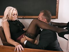 Headmaster enjoys fucking anal hole be advisable for smoking hot omnibus Kenzie Taylor