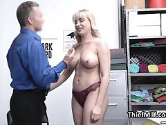 Stealing MILF busted and punished off out of one's mind horny guard