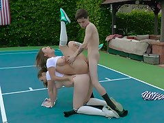 Saucy time they share dick on the tennis court, and it's unqualifiedly stunning