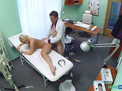 Lilith's shocking hardcore dicking at rub-down the doctor's office