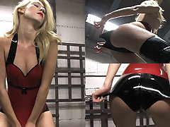 Rosalie in Red Top and Stockings - LatexHeavenVideo