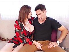 Sexually Attractive Busty Mommy Fucks Crony