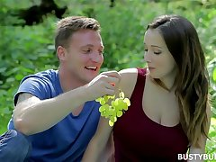 Busty Buffy has romantic lovemaking in the Forest