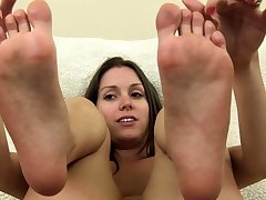 Milf Adjacent to A Foot Fetish Gives A Titty Fucking