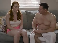 Old timer is gender all holes of 19 yo virgin Arietta Adams and cums in her mouth
