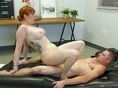 Lauren Phillips issues naked rub-down and right away gets dicked