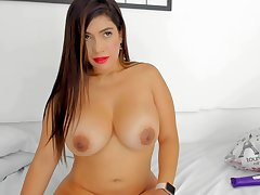 Milf With Big Titties Rides Toy