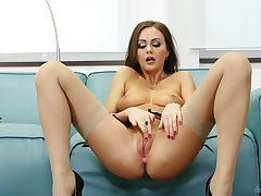 Sexy solo compilation featuring Polina Max, Alexis Crystal plus others