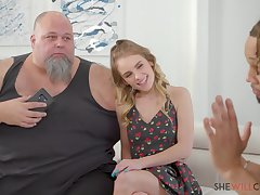 Natalie Knight - Sexy young blonde Natalie Knight fucks BBC onwards of her husband - E105