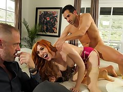 Redhead fucks in front of hubby be advisable for the first cuckold
