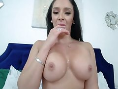 Hot Big Tits Milf Strokes My Cock At Home. Cum In Mouth