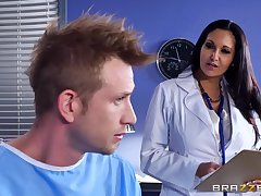 Marvelous action with a thick female doctor with huge jugs