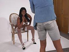 Ebony with nice tits, serious webcam hardcore interracial