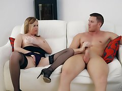Auntie wants the powerful dose detach from her nephew inhibit such a hot teaser