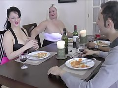 FFM non-professional threesome with chubby babes Lacey Starr and Devon Breeze