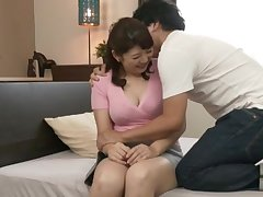 First time nephew fucks her mature Asian cunt