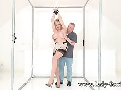 Lady Sonia In Handcuffed And Teased In the air A Vibrator