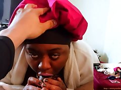 Stepmom THROATED - Sloppy Blow Venture & Swallow