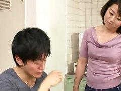 Japanese full-grown Chieko Oomura drops on her knees with regard to pleasure