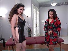 Chubby girls Krystal Davis and Lilimissarab pleasure each transformation
