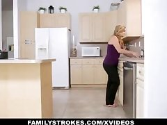 FamilyStrokes - Warm Step-Sister And Mother Tricked And Romped By StepBro