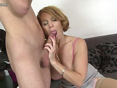 Sexy mom fucks not her son