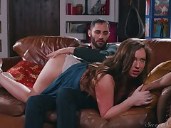 Sexy nympho Maddy Oreilly cheats on her BF wits riding strong boner cock