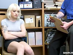 Amazing pale chick Naomi Nash is found guilty and punished with fixed fuck