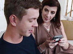 Lustful mommy is eager for huge cock