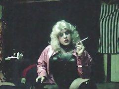 Vintage MzRoxy Pink PVC 164 Smoking Ragging
